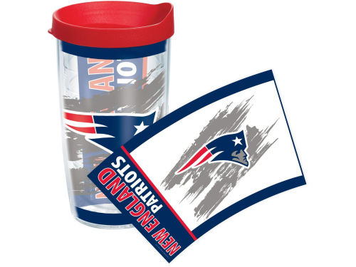 New England Patriots Tervis Tumbler 16oz Wrap Tumbler With Lid