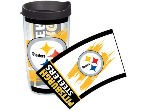 Pittsburgh Steelers Tervis Tumbler 16oz Wrap Tumbler With Lid