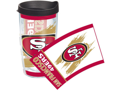 San Francisco 49ers Tervis Tumbler NFL 16oz. Wrap Tumbler with Lid