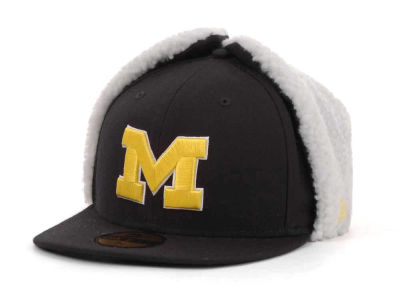 Michigan Wolverines NCAA Dog Ear w/White 59FIFTY Hats