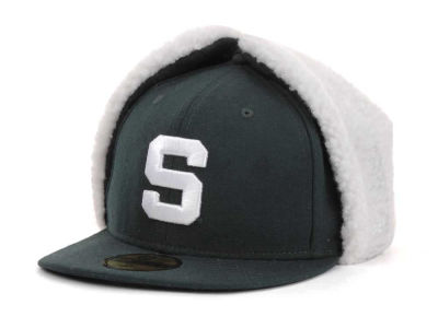 Michigan State Spartans NCAA Dog Ear w/White 59FIFTY Hats