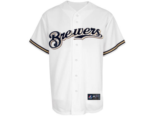 Milwaukee Brewers Majestic MLB Youth Blank Replica Jersey