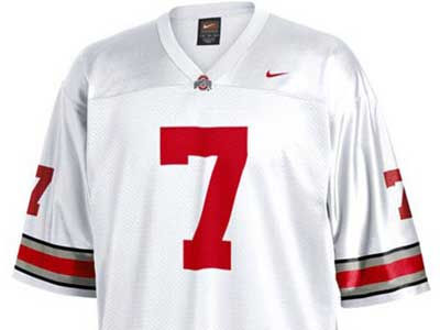 Nike #7 NCAA Twill Football Jersey