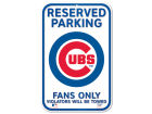 Chicago Cubs Wincraft Reserved Parking Sign Auto Accessories