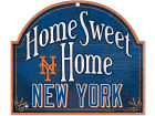 New York Mets Wincraft Home Sweet Home Wood Sign Home Office & School Supplies
