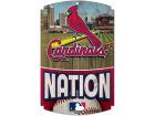 St. Louis Cardinals Wincraft 11x17 Wood Sign Flags & Banners