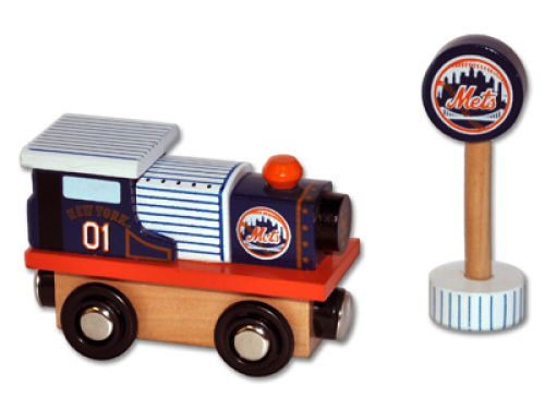 New York Mets Wooden Train
