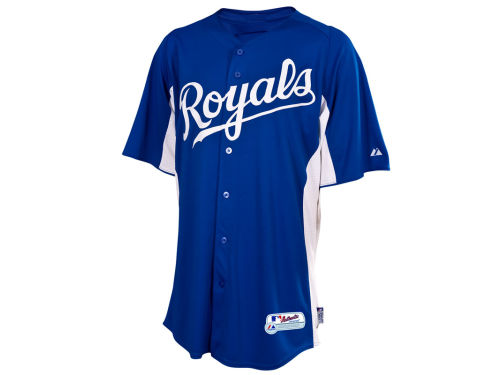 Kansas City Royals Majestic MLB Youth Cool Base Batting Practice Jersey
