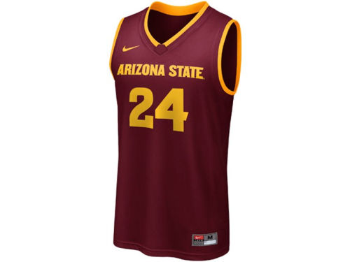Arizona State Sun Devils #24 Haddad Brands NCAA Youth Replica Basketball Jersey