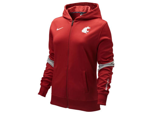 Washington State Cougars Nike NCAA Womens LC Full Zip Performance Hoody