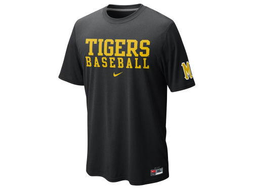 Missouri Tigers Nike NCAA Baseball Dri Fit Practice T-Shirt