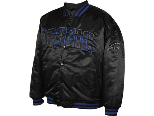 Orlando Magic Profile NBA Blackout Satin Snap Jacket