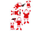 Wisconsin Badgers Family Decal 6pk Auto Accessories