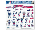 St. Louis Cardinals 11x11 Family Decal Sheet Auto Accessories