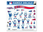 Chicago Cubs 11x11 Family Decal Sheet Auto Accessories