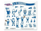 Los Angeles Dodgers 11x11 Family Decal Sheet Auto Accessories