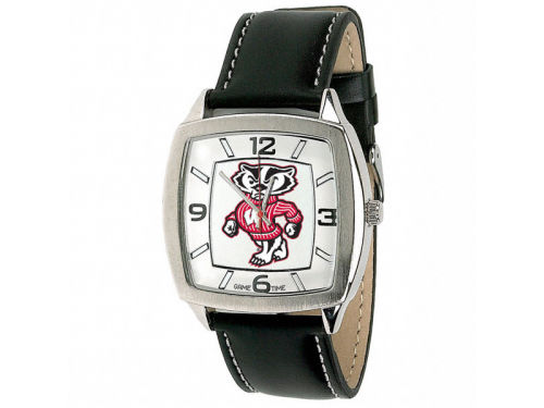 Wisconsin Badgers Retro Leather Watch