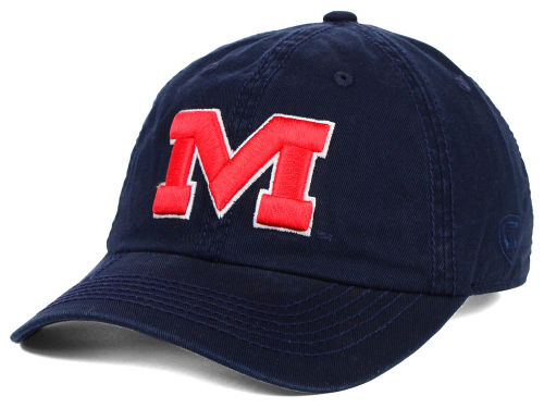 Mississippi Rebels Top of the World NCAA Crew Adjustable Cap Hats