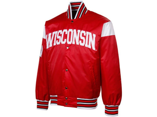 Wisconsin Badgers NCAA Big League Satin Jacket