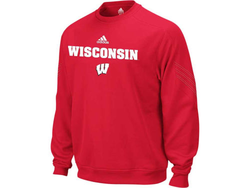 Wisconsin Badgers NCAA Coaches Long Sleeve Crew Sideline 10-11