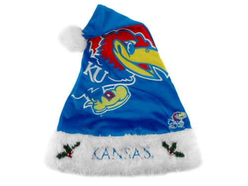 Kansas Jayhawks Forever Collectibles Team Logo Santa Hat