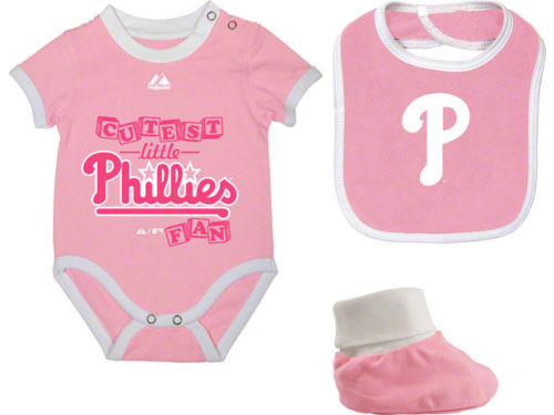 Philadelphia Phillies MLB Infant Triple Play Diaper Set