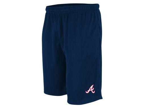Atlanta Braves Majestic MLB Team Issued Mesh Short