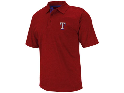 Texas Rangers Majestic MLB Noble Heathered Polo