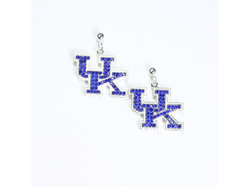Kentucky Wildcats Crystal Logo Earrings