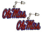 Mississippi Rebels Crystal Logo Earrings Jewelry
