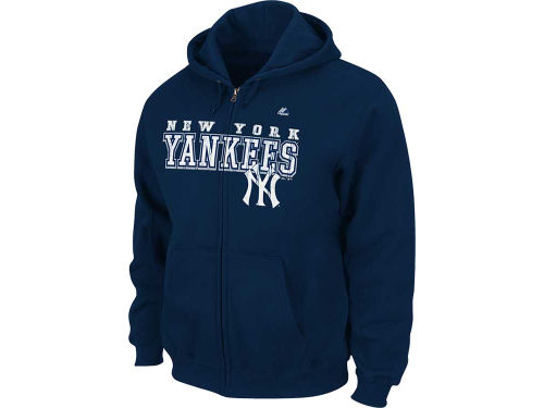 New York Yankees Majestic MLB Club Seat Lightweight Full Zip Fleece