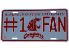 Washington State Cougars Rico Industries #1 Fan Tag Auto Accessories