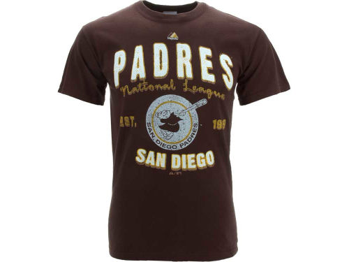 San Diego Padres Majestic MLB Cooperstown The Barney T-Shirt