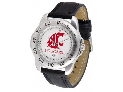 Washington State Cougars Sport Leather Band Watch