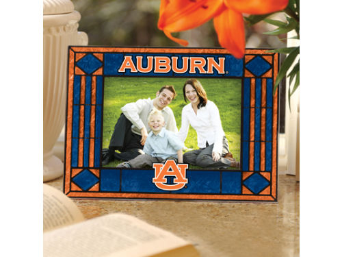 Auburn Tigers Art Glass Picture Frame