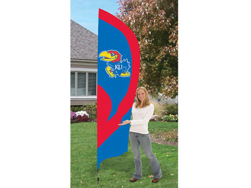 Kansas Jayhawks Tall Team Flag
