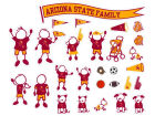 Arizona State Sun Devils Family Decal 28pk Auto Accessories