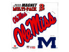 Mississippi Rebels 12x12 Multipack Magnet Auto Accessories