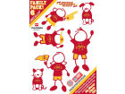 Iowa State Cyclones Family Decal 6pk Auto Accessories
