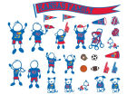 Kansas Jayhawks Family Decal 28pk Auto Accessories