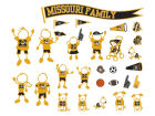 Missouri Tigers Family Decal 28pk Auto Accessories