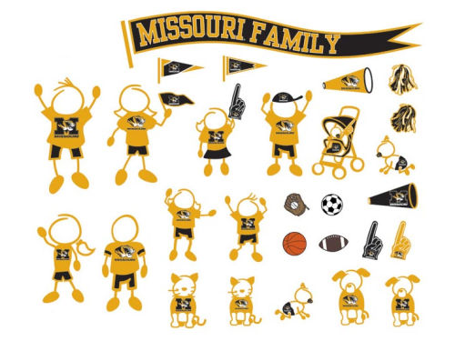 Missouri Tigers Family Decal 28pk