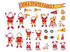 Iowa State Cyclones Family Decal 28pk Auto Accessories