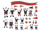 Texas Tech Red Raiders Family Decal 28pk Auto Accessories