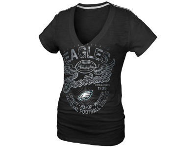 Philadelphia Eagles NFL Womens Slub V-Neck 8650 T-Shirt
