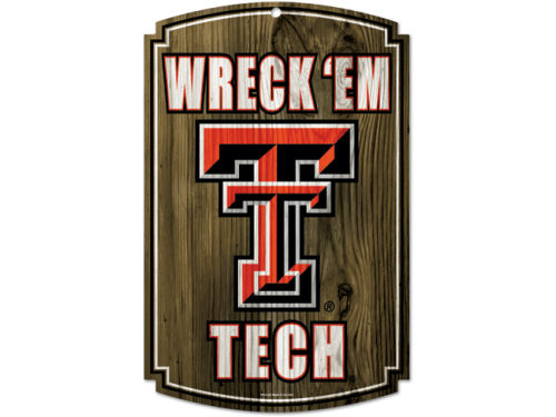 Texas Tech Red Raiders Wincraft 11x17 Wood Sign