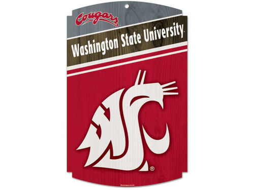 Washington State Cougars Wincraft 11x17 Wood Sign