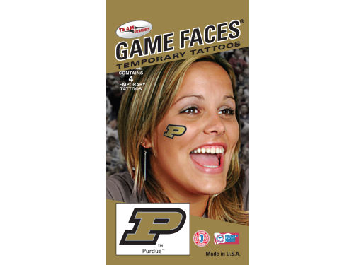 Purdue Boilermakers Game Face Tattoo