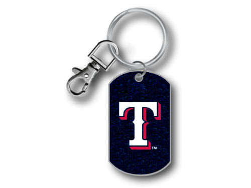 Texas Rangers Aminco Inc. Glitter Key Ring