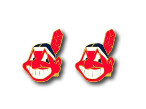 Cleveland Indians Aminco Inc. Logo Post Earrings
